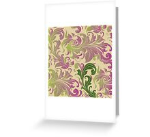 Flowers, ornaments Greeting Card