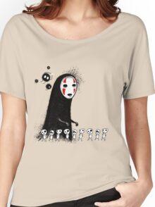 Studio Ghibli - The Spirits & Soot Sprites - Kodama - No Face - Susuwatari  Women's Relaxed Fit T-Shirt