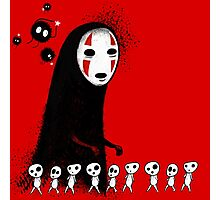 Studio Ghibli - The Spirits & Soot Sprites - Kodama - No Face - Susuwatari  Photographic Print