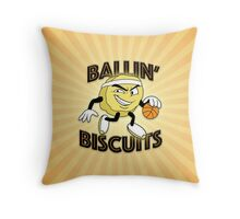 Ballin' Biscuits Throw Pillow