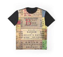 1950S-60S BELFAST & COUNTY DOWN RAILWAY TICKET CUSHION 2 Graphic T-Shirt