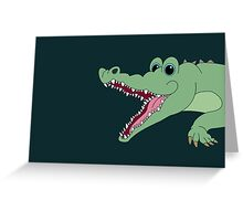 OH, WHAT A CROC! Greeting Card