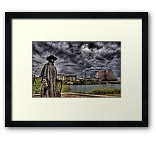 Steve Ray Vaughan statue, Austin, Texas Framed Print