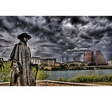 Steve Ray Vaughan statue, Austin, Texas Photographic Print