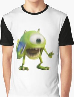 Blurry Mike Wazowski  Graphic T-Shirt
