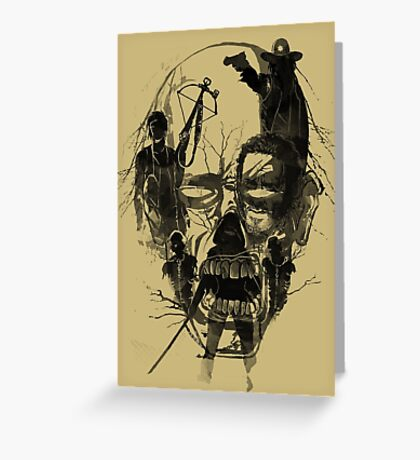 Dead Walker Greeting Card