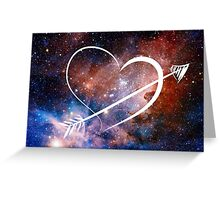 Doctor Who Inspired Heart Greeting Card