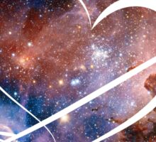 Doctor Who Inspired Heart Sticker