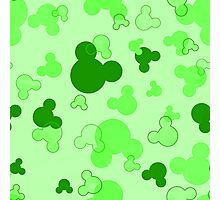 Hidden Mickey - Lime Photographic Print