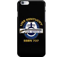 USS Kentucky (SSBN-737) Crest for Dark Colors iPhone Case/Skin