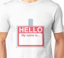 Name Badge Emoji Unisex T-Shirt