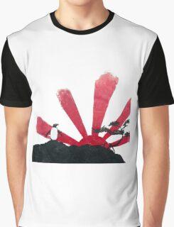 Samurai Penguin Graphic T-Shirt
