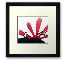 Samurai Penguin Framed Print