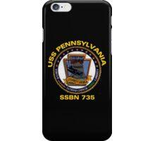 USS Pennsylvania (SSBN-735) Crest for Dark Colors iPhone Case/Skin