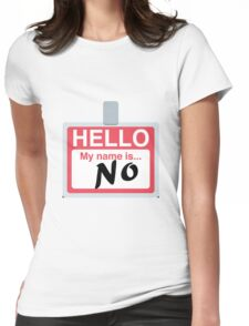 Hello My Name is 'No' Emoji - Customs available! Womens Fitted T-Shirt