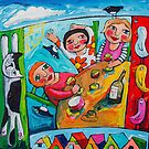 Girlfriends by ART PRINTS ONLINE         by artist SARA  CATENA
