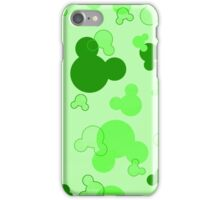 Hidden Mickey - Lime iPhone Case/Skin