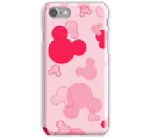Hidden Mickeys - Raspberry iPhone Case/Skin