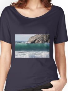 """""""Lake Superior Wave"""" Women's Relaxed Fit T-Shirt"""