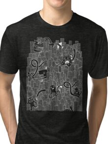 more destroy! (in white!) Tri-blend T-Shirt