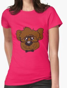 head, face, nerd geek smart hornbrille clever fly cool young comic cartoon teddy bear Womens Fitted T-Shirt