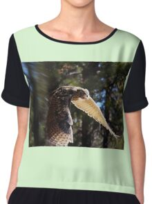 """Great Horned Swoop"" Chiffon Top"