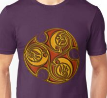 Triskele Shield-Gold Unisex T-Shirt