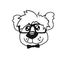 head, face, nerd geek smart hornbrille clever fly cool young comic cartoon teddy bear Photographic Print
