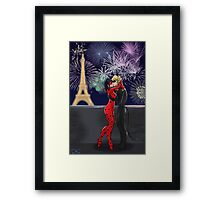 Miraculous Ladybug New Year Framed Print