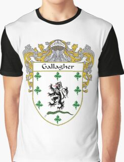 Gallagher Coat of Arms/Family Crest Graphic T-Shirt