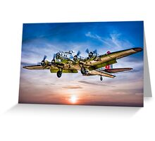 """Boeing B-17G Flying Fortress """"Yankee Lady"""" Greeting Card"""