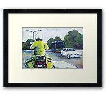 Right turn on Coulter Framed Print