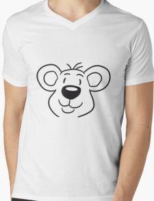 head, face, sweet little cute polar teddy sitting dick funny Mens V-Neck T-Shirt