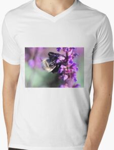 Busy Bee Mens V-Neck T-Shirt