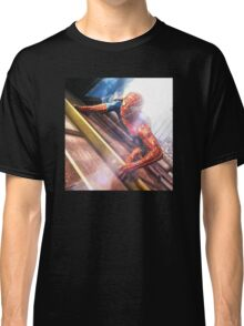 Sipderman superhero climbing the wall Classic T-Shirt