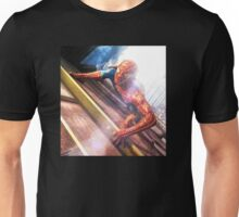 Sipderman superhero climbing the wall Unisex T-Shirt