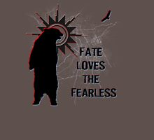 """Fate Loves the Fearless"" - Spirit Bear & Spirit Eagle Silhouette  Unisex T-Shirt"