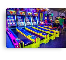Neon Arcade Canvas Print