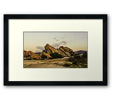 Vasquez Rocks Framed Print