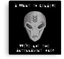 Alien Sticker Canvas Print