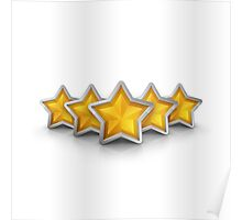 five star emblem for exclusivity and ultimate luxury Poster