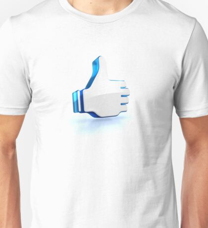 ok like thumbs up glossy 3D icon of social media Unisex T-Shirt
