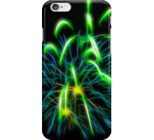 Abstract Green Fireworks  iPhone Case/Skin