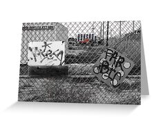 Suburb Slumps Greeting Card