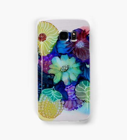 """Blooming Blues"" - Colorful Unique Original Artist's Floral Design! Samsung Galaxy Case/Skin"