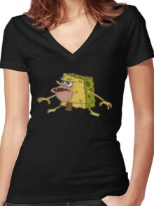 Caveman - SpongeBob Women's Fitted V-Neck T-Shirt
