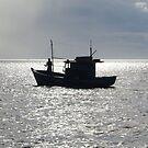 Lonely Fisherman by Herbert Shin