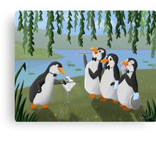 Singing Practice - Penguins Mary Poppins Canvas Print