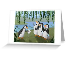 Singing Practice - Penguins Mary Poppins Greeting Card