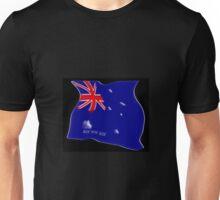 Australian flag concept on black Unisex T-Shirt